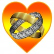 Royalty-Free Stock Photo: Marriage for love and for money