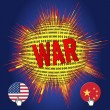 Stock Photo: Cyberwar bewen USand China