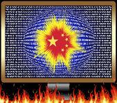 Chinese Cyber war — Stock Photo