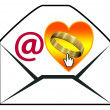 Proposing marriage by email — Stok fotoğraf