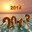 The year 2013 will fall into oblivion while 2014 will arise — Stock Photo