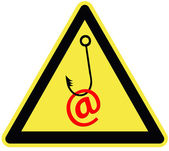 Caution email fraud — Stock Photo