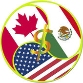 NAFTA Symbol — Stock Photo