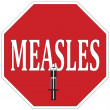 Stop measles — Stock Photo