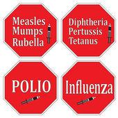 Stop infectious diseases through vaccination — Stock Vector