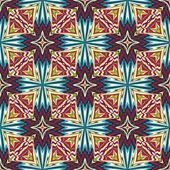 Indian fabric design — Stock Vector