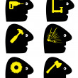 Headache Symbols — Stock Vector