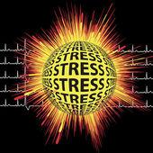 Estresse e ataque cardíaco — Foto Stock