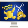 Parental Control over violence — Stock Photo