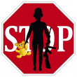 Stop the use of Child Soldier — Stock Photo