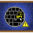 Caution Computer Spy — Stock Photo