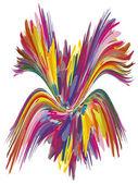 色の噴水、創造的な心のための記号 — ストックベクタ