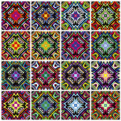 Set of seamless Native American vector patterns — Stock Vector