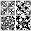 Set of Baroque tiles — Stock Vector