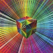 Magic 3D Cube in rainbow colors — Stock Photo