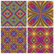 Psychedelic Pattern Set — Stock Vector