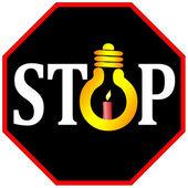 Stop using light bulbs — Stock Photo