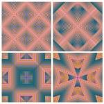 Art Deco Pattern Set — Stock Vector