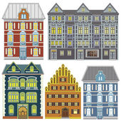 Town houses in Old Europe — Stock Photo