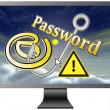 Protect your Email and Password — 图库照片