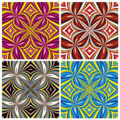 African Pattern Set — Stock Vector