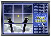 Social Loneliness — Stock Photo
