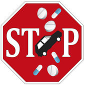 Stop Drive and Drugs — Stock Photo