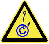 Caution Copyright Fraud — Stock Photo