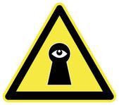 Caution Spy — Stockfoto