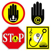 Stop Copyright Infringement — Stock Vector