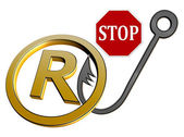 Stop Trademark Infringement — Stock Photo