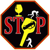 Stop drunk driving — Foto Stock