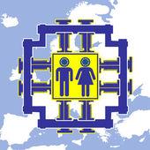 European Equality — Stock Photo