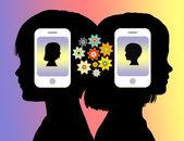 Pokolenie smartphone — Zdjęcie stockowe