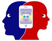Smartphone Relation — Stock Photo