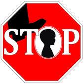 Stopp der gewalt gegen kinder — Stockfoto