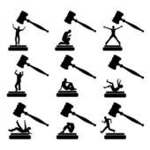 People in Court — Stock Vector