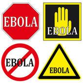 Stop EBOLA Signs — Stok Vektör