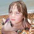 Child beach sunbathing relaxing — Stock Photo