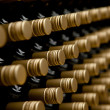 Wine bottles winery - Stock Photo