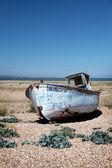 Trawler fishing boat wreck derelict — Stock Photo