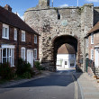 Stock Photo: City wall gate rye england