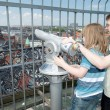 Sightseeing lookout binoculars copenhagen child tourist — Stock Photo #45336257