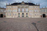 Queen palace Denmark copenhagen Amalienborg castle — Stock Photo