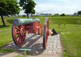 Cannon citadel copenhagen kastellet — Stock fotografie