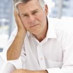Unhappy senior businessman — Stock Photo #11883812