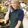 Woman working in florist — Foto Stock #11884130
