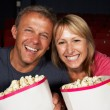Royalty-Free Stock Photo: Couple Watching Film In Cinema