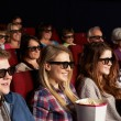Group Of Teenage Friends Watching 3D Film In Cinema — Stock Photo #24440187