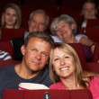 Couple Watching Film In Cinema — Stock Photo